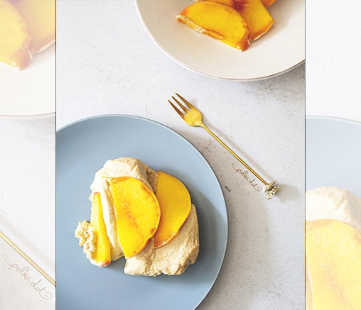 Суров летен десерт с праскови и кашу, от Polka dot kitchen